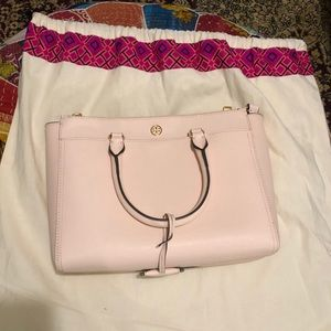 Tory Burch Robinson tote shell pink